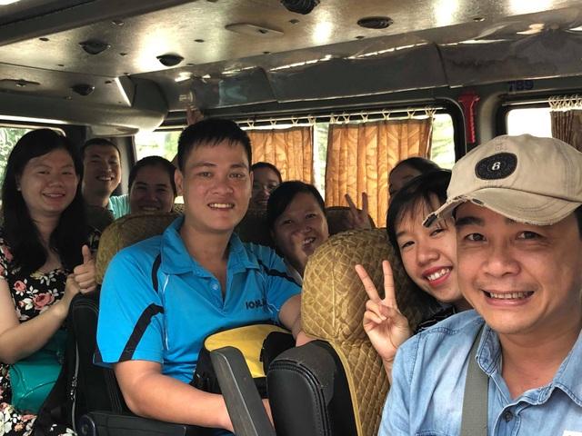 Có mặt tại Gia Lai, đoàn cán bộ, giảng viên trường ĐH Nông lâm TPHCM tiếp tục di chuyển về các huyện chuẩn bị cho ngày mai đón thí sinh.