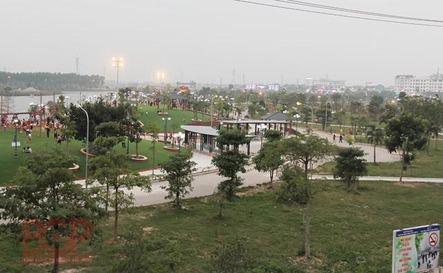 Công viên Hoàng Hoa Thám là công viên trung tâm của tỉnh Bắc Giang. (Ảnh: Cổng thông tin điện tử tỉnh Bắc Giang).