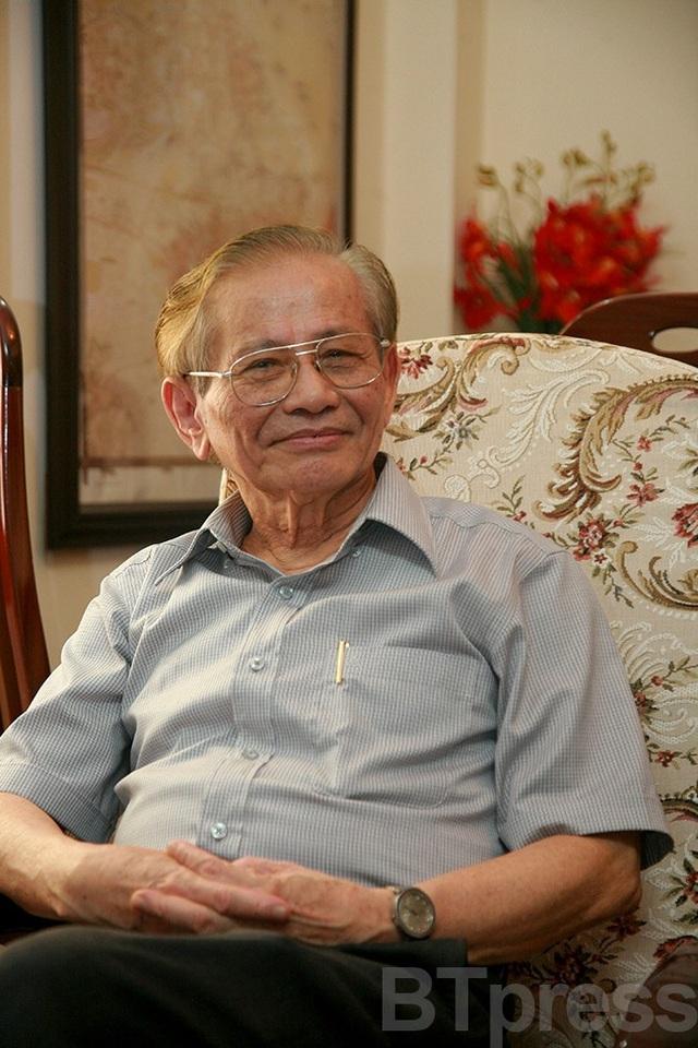 Cố GS Phan Huy Lê (Ảnh: Bùi Tuấn)