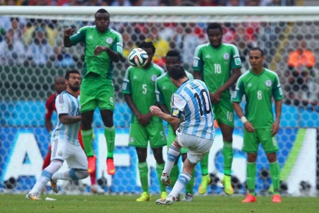 Messi từng ghi bàn vào lưới Nigeria ở vòng bảng World Cup 2014