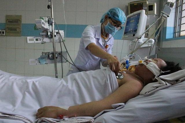 Chị Vân đang được điều trị tích cực tại Bệnh viện bệnh Nhiệt Đới