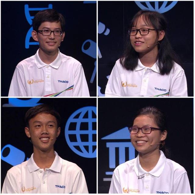Thành Nhân, Yến Nhi, Tân Nhật và Hà Giang tranh tài trong cuộc thi Tháng 1, Quý 4 Đường lên đỉnh Olympia năm thứ 18
