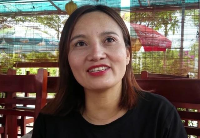 Chị Minh vui vẻ chia sẻ những ước mơ của mình trước khi bước vào kỳ thi THPT quốc gia 2018.