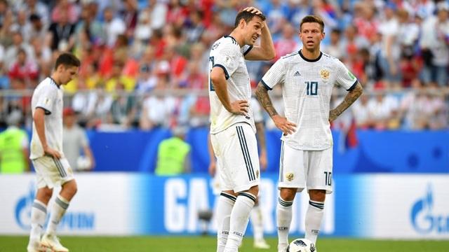 Sự buồn bã của các cầu thủ Nga