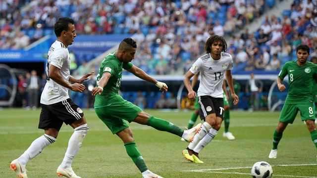Salem ấn định chiến thắng 2-1 cho Saudi Arabia ở cuối trận