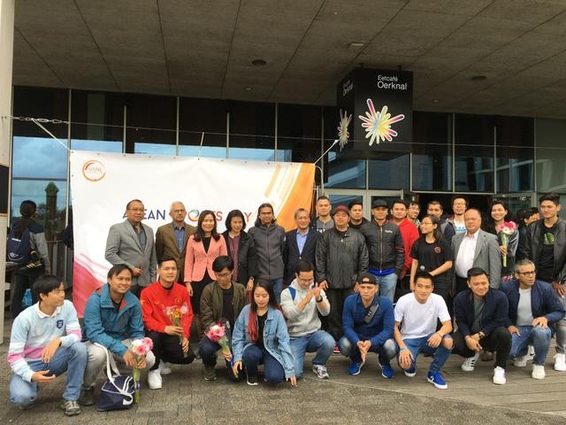 Đại diện Hội sinh viên các nước ASEAN tại Hà Lan tham dự Đại hội