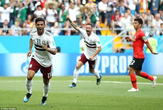 Mexico chỉ cần 1 điểm là giành ngôi đầu bảng F