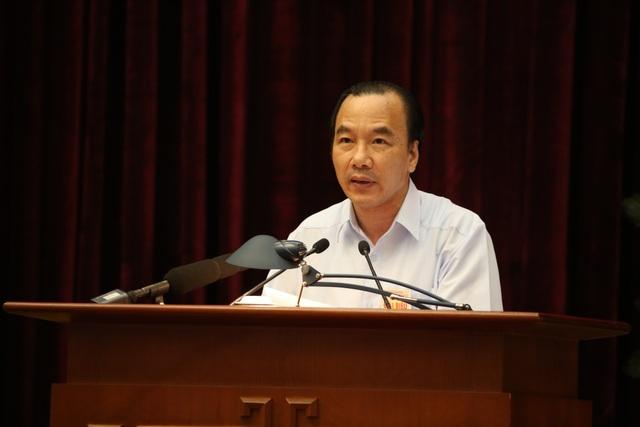 Phó Chủ tịch UB Trung ương MTTQ Việt Nam Ngô Sách Thực đề cập giải pháp tăng cường giám sát của Mặt trận, của người dân trong đấu tranh chống tham nhũng