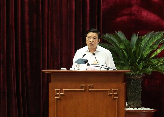 Trưởng Ban Nội chính Trung ương Phan Đình Trạc nhấn mạnh giải pháp quyết liệt đổi mới công tác cán bộ (ảnh: Nam Trần)