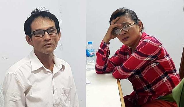 Vợ chồng Dũng và Oanh khi bị bắt.