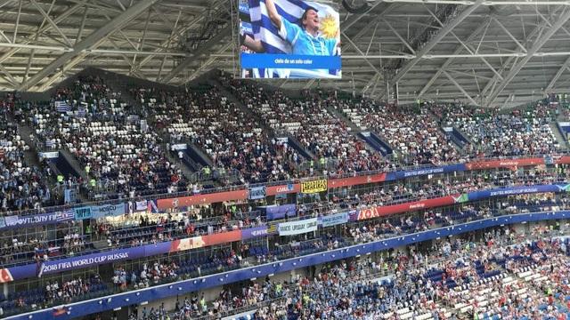 Sân vận động Samara trước giờ bóng lăn
