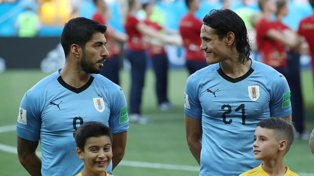 Suarez và Cavani, hai ngôi sao sáng nhát trong đội tuyển Uruguay