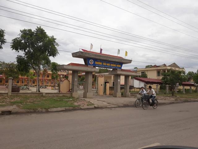 Trường Tiểu học Quảng Hưng- nơi xảy ra nhiều vi phạm.
