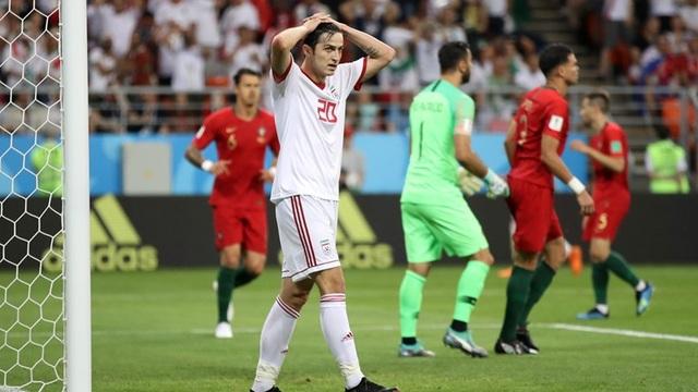 Azmoun tiếc nuối cơ hội ghi bàn bị bỏ lỡ