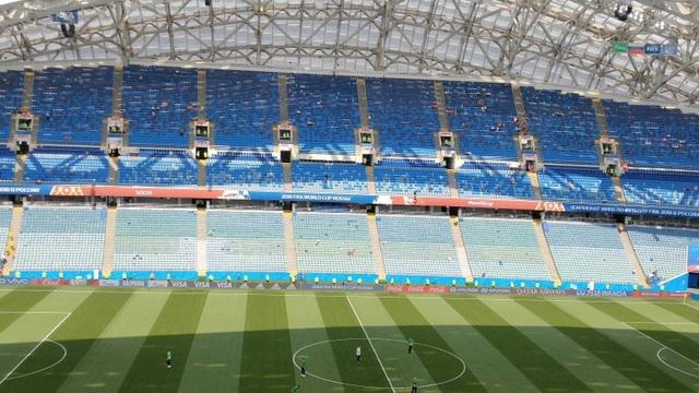 Sân Fisht Olympic trước khi trận đấu diễn ra