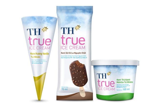 Tập đoàn TH ra mắt bộ sản phẩm kem mới TH true ICE CREAM