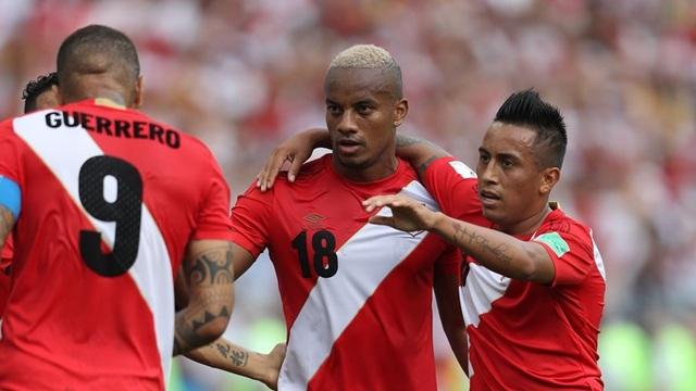 Peru dẫn 1-0 sau khi kết thúc hiệp 1