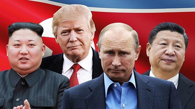 Ngoài tuyên bố ngoại giao thì chính quyền Tổng thống Putin (thứ hai từ phải sang) đang tỏ ra mờ nhạt trong giải quyết vấn đề Triều Tiên. Ảnh: CNN