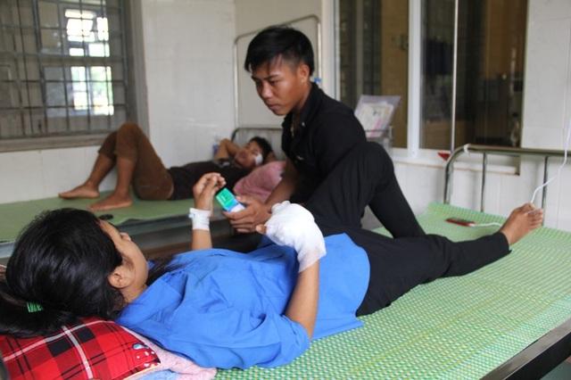 Sau khi được điều trị, sức khỏe của Hà đã chuyển biến, cánh tay bớt đau nhức hơn