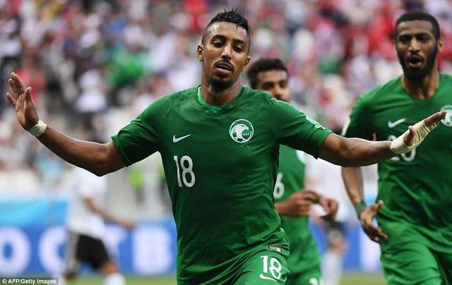 Ả rập xê-út đã có chiến thắng xuất sắc 2-1 trước Ai Cập