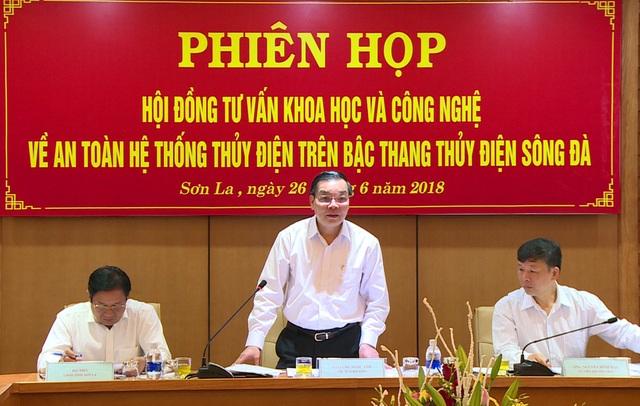 Bộ trưởng Chu Ngọc Anh đánh giá các công trình thủy điện trên bậc thang sông Đà đủ điều kiện sẵn sàng tham gia chống lũ và tích nước năm 2018.