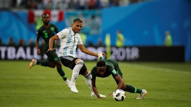 Argentina đã có được thế trận tốt ở hiệp 1