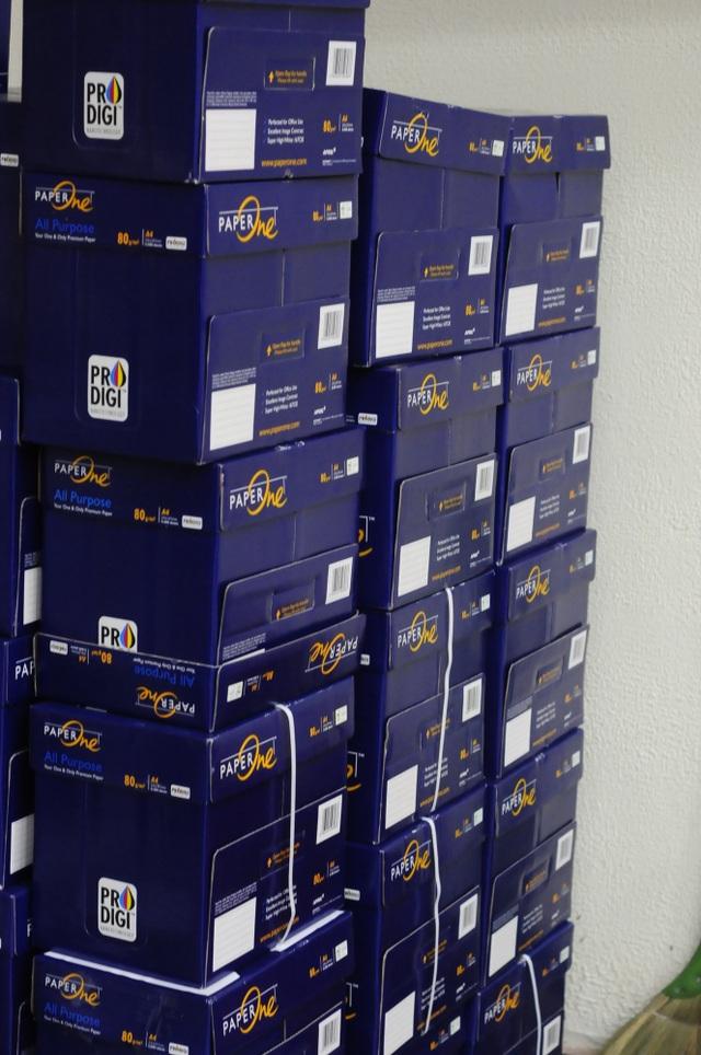 Khoảng 4 tấn giấy đã được sử dụng để in sao đề thi
