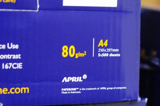 Giấy dùng để in đề thi là loại dày, 80g/m2
