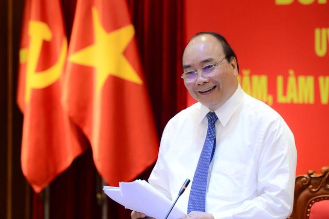 Thủ tướng Nguyễn Xuân Phúc phát biểu chỉ đạo tại buổi làm việc