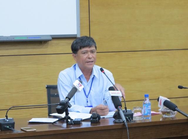 Ông Nguyễn Văn Hiếu, Phó giám đốc Sở GD-ĐT TPHCM thông báo kế hoạch chấm thi THPT quốc gia của TPHCM