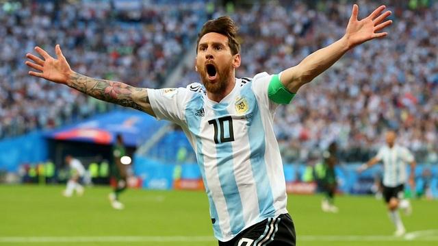 Niềm vui của Messi khi ghi bàn mở tỉ số