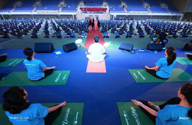 Bảo Việt Nhân thọ chung tay cùng 20.000 người yêu mến bộ môn Yoga lan tỏa lối sống khỏe thể chất, sáng tinh thần trong Ngày Quốc tế Yoga lần thứ 4 2018