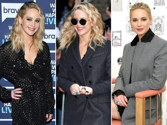 Jennifer Lawrence thường xuyên đeo chiếc nhẫn xanh của Graziela đi sự kiện
