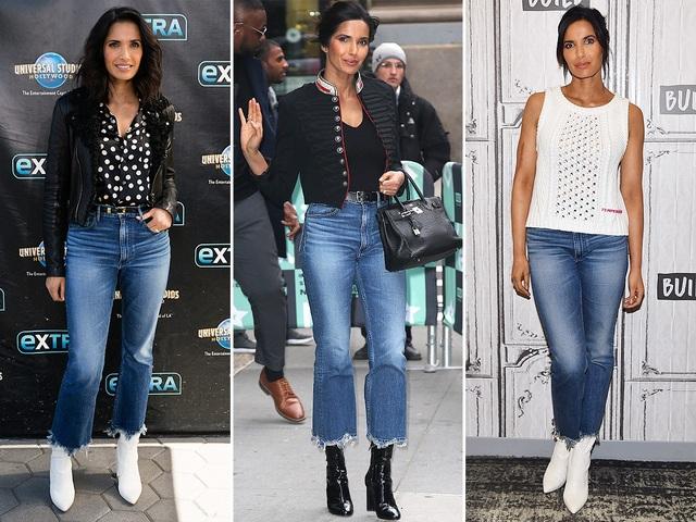 Padma Lakshmi và chiếc quần Jeans thường mặc của hãng 3x1