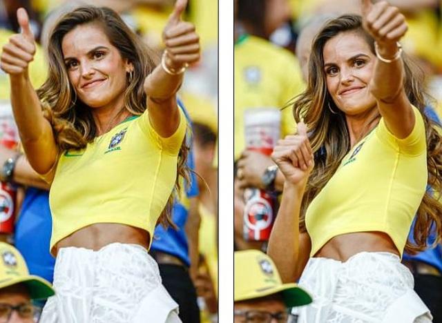 Chiến thắng 2-0 thuộc về Brazil đã khiến thiên thần Victorias Secret rất hạnh phúc