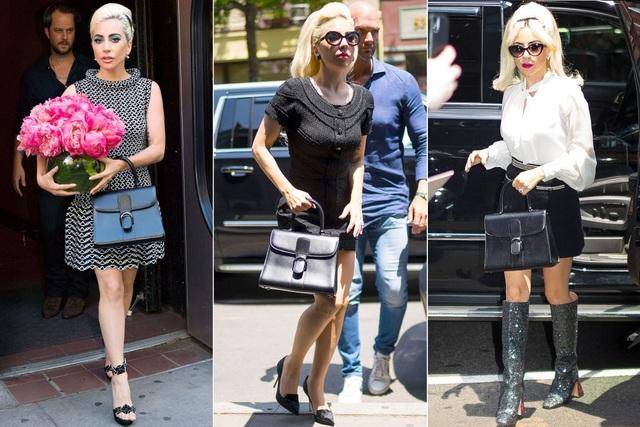 Khi theo phong cách thanh lịch, Lady Gaga sẽ mang chiếc túi Delvaux này