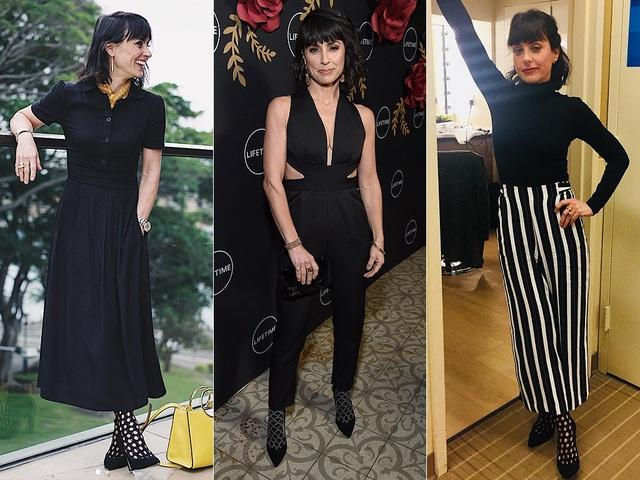 Constance Zimmer kết hợp nhiều trang phục với đôi giày Sarah Flint