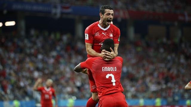 Niềm vui của các cầu thủ Thụy Sỹ