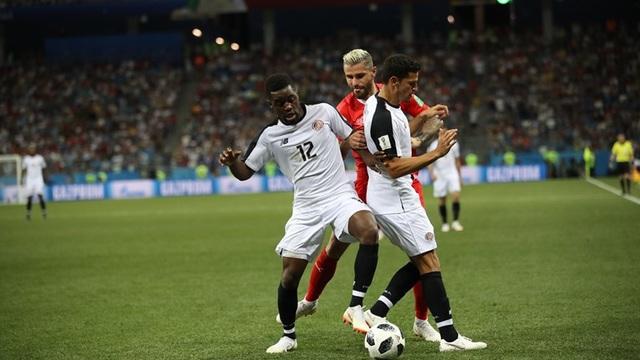 Costa Rica đang chơi hay và áp đảo hơn ở hiệp 2