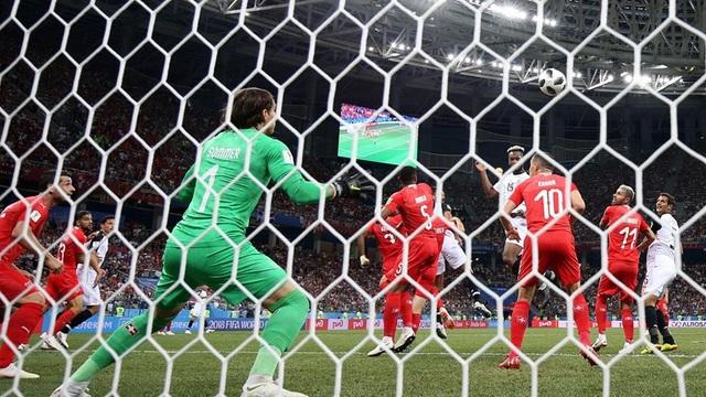 Tình huống Thụy Sỹ để thủng lưới ở hiệp 2