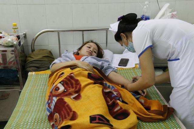 Cô Mai đang điều trị tại bệnh viện