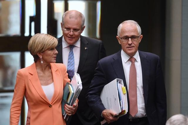 Thủ tướng Australia Malcolm Turnbull (phải) và Ngoại trưởng Julie Bishop (trái) (Ảnh: AAP)