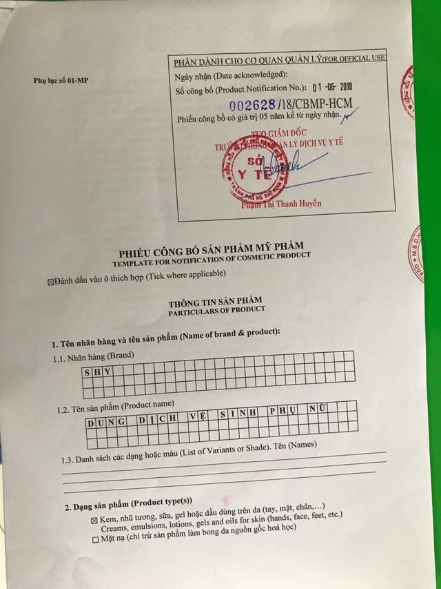 Sản phẩm có Phiếu công bố sản phẩm mỹ phẩm số 002628/18/CBMP-HCM do Sở y tế thành phố Hồ Chí Minh cấp.