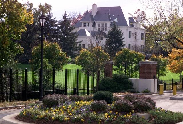 Toàn cảnh khu dinh thự của phó tổng thống Mỹ (Ảnh: AP)