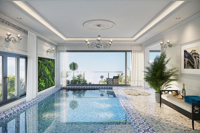 Bể bơi trong từng căn biệt thự - Điểm nhấn độc đáo của Shop villa Imperi Garden