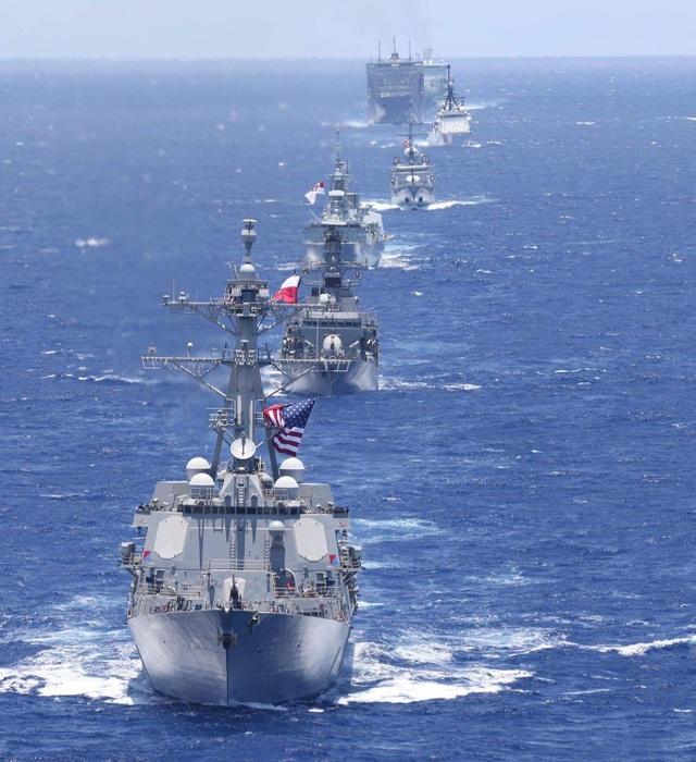 Tàu hải quân các nước thamg gia tập trận RIMPAC 2018 (Ảnh: US Navy)