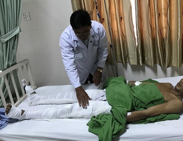 Các nạn nhân đang điều trị tại bệnh viện Đa khoa Hoàn Mỹ Cửu Long (Cần Thơ)