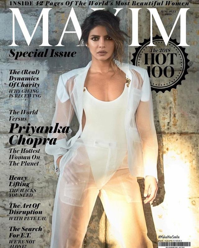 Priyanka Chopra mới đây bất ngờ được tạp chí Maxim bình chọn là người phụ nữ hấp dẫn nhất thế giới năm2018.