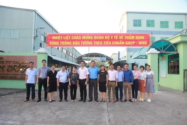 Vùng trồng đậu nành dược liệu của Bảo Xuân được công nhận đạt chuẩn GACP-WHO