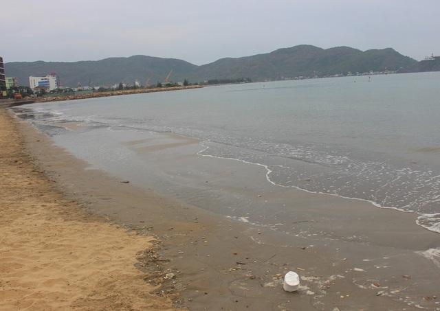 Hiện tượng xuất hiện cát đen bãi biển Quy Nhơn một phần do dự án lấn biển đổ đất đá nhiều năm qua nhưng chưa triển khai.
